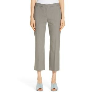 Nordstrom Check Flare Leg Crop Pants